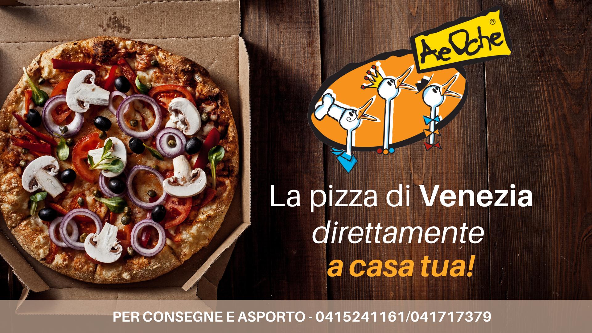 La pizza di Venezia direttamente a casa tua: asporto e consegna!